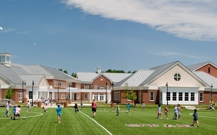 St. Anne's with athletic field