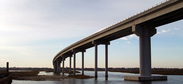 Bridge over Intracoastal Waterway, Sunset Beach, NC