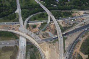I-77 Intersection 107E & 107W- Construction of 2 new bridges